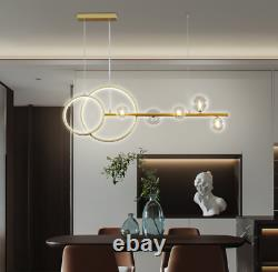 Moderne Black / Gold Glass Branch Chandelier Salle À Manger Lampe Lumière 3 Couleurs Changer