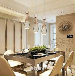Moderne Bubble Crystal Ceiling Led Light Kitchen Bar Pendentif Lamp Bar Home Light