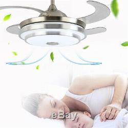Moderne Led 7 Couleur De Lumière Ventilateur De Plafond De Musique Modification De La Lampe Du Ventilateur À Distance / App