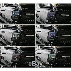 Multi-changement De Couleur Led Rgb Phare Halo Bague Pour 09-16 Dodge Ram Sport