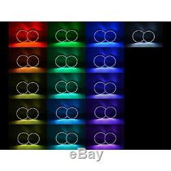 Multi-changement De Couleur Led Rvb Halo Anneau Headlamp M7 Ensemble Pour 02-05 Dodge Ram Sport