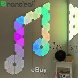 Nanoleaf Led Lumière Panneaux En Toile Rhythm Hexagone Smarter Kit D'accessoires À Distance