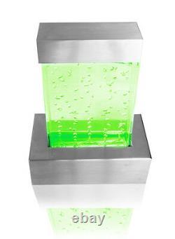 Nebula Tabletop Bubble Wall Caractéristique De L'eau Fontaine Couleur Changement De Lumières Intérieur