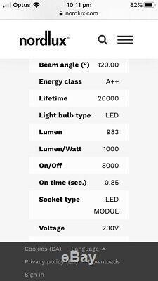 Nordlux Spaceb Led Pendentif De Changement De Couleur Lumière Danemark En Tant Que Nouveau Affichage Rrp 900 $