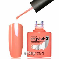 Nouveau Crystal-g Classic Quotidienne S-gamme S31- Coral Crazzzy Uv / Led Gel Polish
