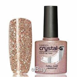 Nouveau Crystal-g, Fin Glitters Gamme E E-36 Uv / Led Gel Vernis À Ongles, Royaume-uni Marque