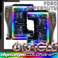 Oracle Dynamic Colorshift Phares Pré-assemblés Noir Pour 17-19 Ford F-250