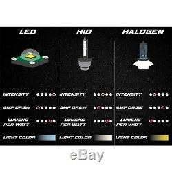 Phare Halo Changeant De Couleur 4x6 Rvb Cob Ensemble De Phares À Del 6k Led H4