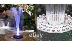 Piscine À Led Ou Étang Fontaine D'eau Flottante Changement De Couleur Changeant Ou Toute La Pompe Blanche 600gph