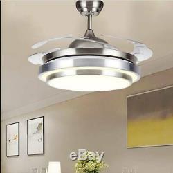 Plafond Silencieux Led 42 Pouces Ventilateur Avec 3 Couleurs Lumières Changeantes Et De Contrôle À Distance