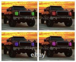 Pour 2007-2013 Gmc Sierra Truck Multi-color Rgb Changement De Phare Led Halo Anneaux