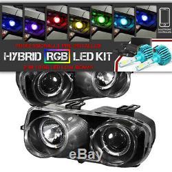 Pour 94-97 Integra Acura Dc2 Jdm Paire Halo Headlamp Changement De Couleur Led Feux De Croisement