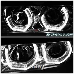Pour 96-01 Audi A4 B5 Quattro Chrome 3d Led Rgb Changement De Couleur Angel Eyes Phares