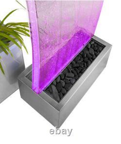 Primrose Cosmo Curved Bubble Water Wall Avec Des Lumières Changeantes De Couleur
