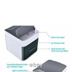 Réchauffeur D'air Portatif Humidificateur Couleur Changement Ventilateur Led Voyage Air Con Uk