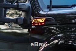 Recon Illuminated F-250 Emblèmes Fender Noir Pour 2011-2016 Ford F-250 Super Duty