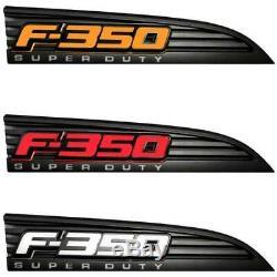 Recon Illuminated F-350 Emblèmes Fender Noir Pour 2011-2016 Ford F-350 Super Duty