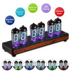 Réveil À Led Vintage Iv-11 / -11 Rétro Vfd Nixie Tube Desk Alarm Clock Assembled