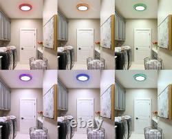 Rgb 16 Changing De Couleur Bague Led Plafond Panneau Lumière Chambre À Coucher Lumière