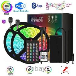 Rgb 5050 Led Strip Lights Color Changing Smart Lighting With Wifi & Bluetooth