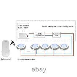 Rgb 54w Led Pool/spa Lumière Basse Tension 12v Couleur Changement Avec Télécommande