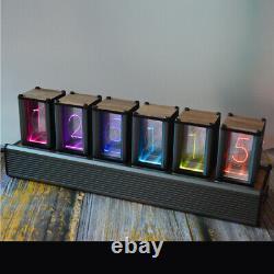 Rgb Change Tube Clock Led Color Digtal Electronic Luminous Alarm Clock Diy Gift