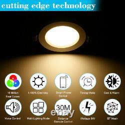 Rgb Led Smart Downlight Wireless App Control Panneau De Plafond Lampe Ronde Spotlight
