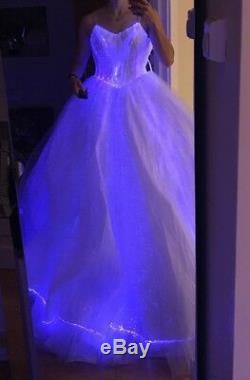 Robe De Bal À Led Illuminé, Uk10, Prix De Vente £ 2800, Éclairages Colorés