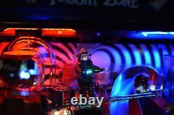 Robot Robby Avec Base, Changement De Couleur / Blinking Led