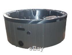 Round Outdoor Whirlpool Bain À Remous Rond 195 CM Avec L'ozone Chauffe-led Pour 7 Personnes
