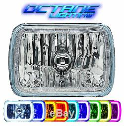 Rvb Cob Changement De Couleur Led 7x6' Halo Angel Eye Phare Pour Jeep Wrangler Yj Xj