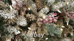 Santas Best 6ft Sucre Swear Flocked Arbre De Noël Changement De Couleur Changement De Couleur Led (34)