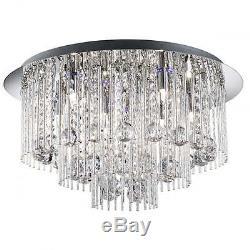 Searchlight Beatrix 8 Lumière Led Couleur Changeante Plafond Cristal Flush 9198-8cc