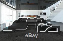 Sofa Sectionnel Cuir Positano L Avec Lumières Led Et Couleurs Changeantes