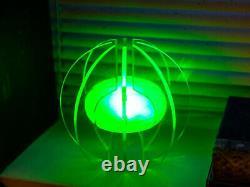 Sparemark Core Of Light Led Light Couleur Changeant Silver Sphere Sculpture Lampe