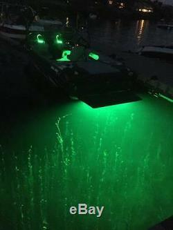 Ss Trim Tab Mont Rgb Color Changing 8000 Lumens Totale Sous-marine Bateau Led