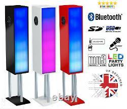 Steepletone Aztèque 2 100w Party Bluetooth Haut-parleur Avec Couleur Led À Couleurs Changeantes