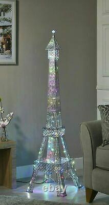 Stupéfiant 146cm Tour Eiffel Lampadaire 112 Led Changeant De Couleur