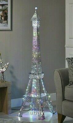 Stupéfiant 146cm Tour Eiffel Lampe Au Sol 112 Changement De Couleur Led