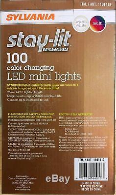 Sylvania Stay-lit Platinum Changement De Couleur Led Mini 3-fonction Mas X-square