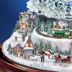 Thomas Kinkade Cristal Changeant De Couleur Arbre Reflets Led Village De Noël