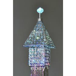 Tour Eiffel Cristal Sparkly Diamante Silver Floor Standing Led Lamp 146cm Accueil