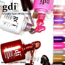 Tout Neuf, Gdi Fini Glitter / Shimmer R-gamme Uv Led Soak Off Gel Vernis À Ongles