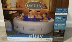 Tout Nouveau Lay Z Spa Paris 4-6 Personne Hot Tub Led Lights 7 Colours Vegas White