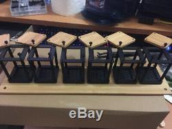 Tube En Bois / Bambou Rétro Led À 6 Chiffres Avec Horloge De Bureau Usb Kit Diy Diy Pas Nixie Clock