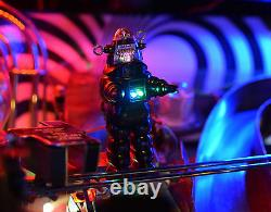 Twilight Zone Flipper Machine Robby Robot Withbase, Color Changing/blinking Led