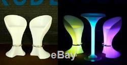 Uzo1 Illuminated / Lighted Changement De Couleur Led Bar Chaises / Tabourets Withremote Contrôle