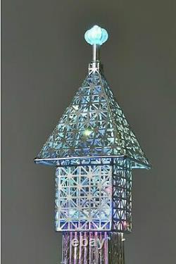 Vente! Superbe Lampe De Plancher De Tour Eiffel De 146cm 112 Led Changeantes De Couleur