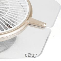 Ventilateur Au Plafond Avec La Lumière Couleur Télécommande Changer La Lampe Led Dimmable 48w Uk