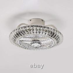 Ventilateur De Plafond Avec Ventilateur De Cristal Léger Light Light Remote Control Dimmable 3 Wind Speed